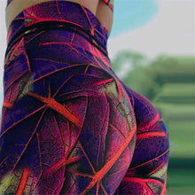 Load image into Gallery viewer, Florescent Leaf Swag Leggings