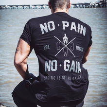 Load image into Gallery viewer, No Pain, No Gain Spartan Tshirt