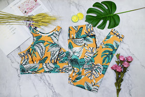 Move and Stretch 2 Piece Floral Yoga Suit