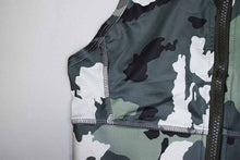 Load image into Gallery viewer, Front-Zip Camo Swag Fashion High-Waist Workout Suit