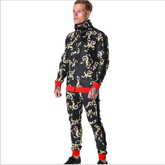 Fashion Moda King Swag Compression Tracksuit