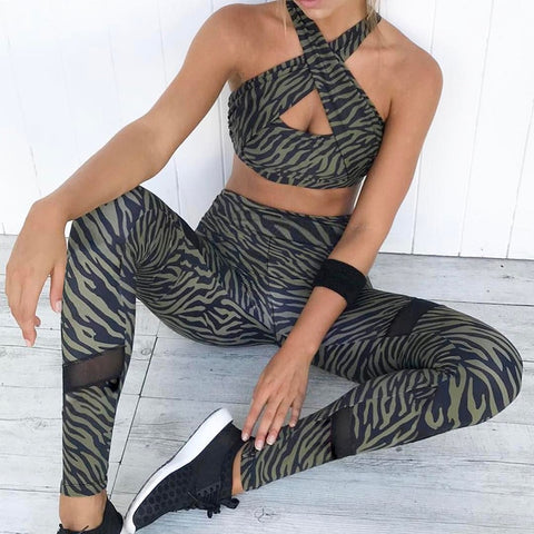 Criss-Cross Swag Yoga Suit