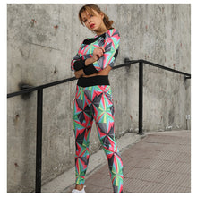 Load image into Gallery viewer, High Waist Breathe Colorblock Swag Compression Fit Suit