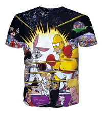Load image into Gallery viewer, Homer Vs. Bugs, Main Event Tshirt