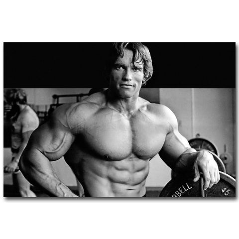Young Schwarzenegger Physique Canvas