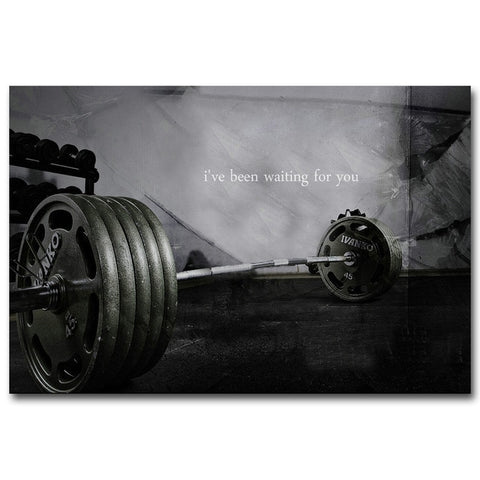Lonely Weights Canvas