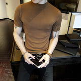 Short Sleeve Fashion Turtleneck Tee
