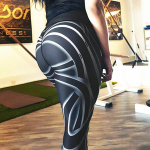 Muscle black and white Leggings