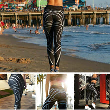 Load image into Gallery viewer, Muscle black and white Leggings