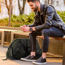 Load image into Gallery viewer, Ultimate Gym Bag USB Charging, Water Repellent for extreme weather with backpack support