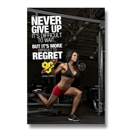 BSN Never Give Up Canvas
