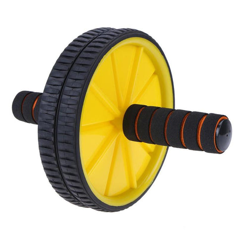 Dual Ab Roller Wheel Exercise Wheel With Foam Grip Handles