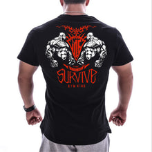 Load image into Gallery viewer, Survive Evolution Swag Bodybuilding Tshirt