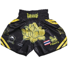 Load image into Gallery viewer, Lotus Flower Professional Thai KickBoxing Shorts