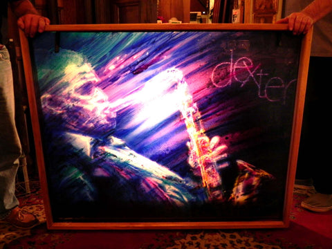Unique 3 Dimensional Lighted Painted of Jazz Great Dexter Gordon by David Armstrong