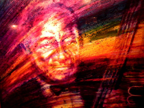 Phenomenal 3 Dimension Lit Painting of Jazz Bassist Milt Hinton by David Armstrong
