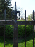 Set of Early 20th Century Decorative Iron Driveway Gates