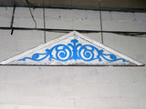 Antique Victorian Barge Board with Blue Scroll Work