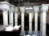 Set of 8 Large Antique Solid Wood with Carved Capitals from the 1800's