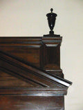 Large 1913 Broken Classical Pediment in Walnut