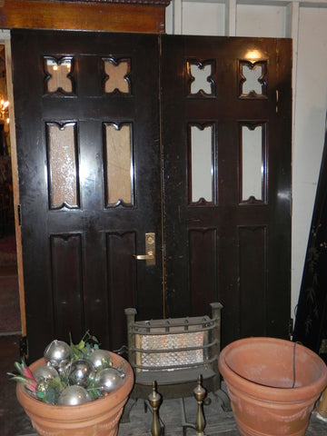 Pair of Vintage Gothic Style French Doors