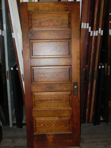 Vintage Pine 5 Raised Horizontal Panel Door with or w/o hardware