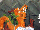Colorful Monumental Vintage Chinese Dragon Roof Cresting