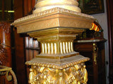 Antique Pedestal with Carved Faces...possibly by Herter Brothers