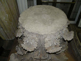 Large Antique Carved Limestone Acanthus Leaf Capital