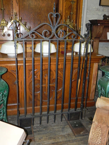 Antique Hand Wrought Iron Pedestrian Gate