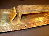 Very Large Antique Arts & Crafts Brass Thumb Paddle Entry Pull