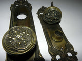 "1905 Antique Cast Bronze Entry Door hardware Set ""Salisburg"" Pattern by Corbin"