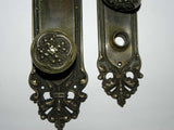 "1905 Antique Cast Bronze Entry Door Hardware ""Salisburg"" Pattern by Corbin"