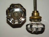 Antique Vintage Octagonal Door Knos
