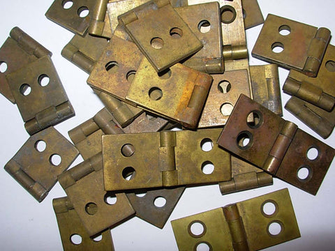 Vintage Mini Hinge in Brass