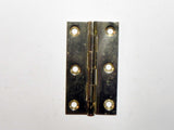 NOS Small Brass Cabinet Hinges in Pairs