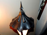 "Vintage Exterior Porch Light Sconce with ""Witch's Cap"" Top"