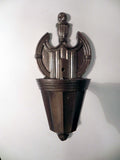 Pair of Restored Vintage Federal Styled Wall Sconces with Metallic Bronze Finish