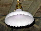 Antique Victorian Arts Crafts Kitchen Pantry Light with Ribbed Shade