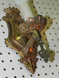 Pair of Vintage French Regency Styled Cast Brass Light Sconces