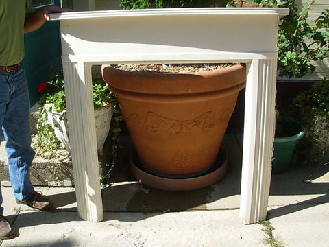 Vintage Art Deco Curved Fireplace Mantel