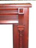 Antique Half Mantel in Cherry with Decorative Tapered Columns