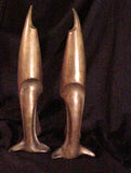 Pair of 1920's Era Vintage Art Deco Bronze Andirons attributed to Pierre Legrain