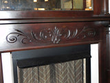 Late 19th early 20th Century Full Fireplace Mantel with Fluted Columns & Carved Detailing