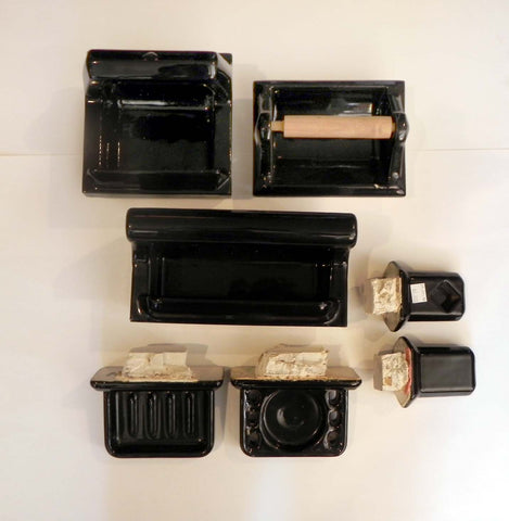 Vintage Bathroom Accessories in Black - Misc