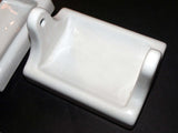 Vintage NOS White Toilet Paper Holder