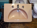 "Large Vintage Crane ""Diana"" Wall Sink in Suntan"
