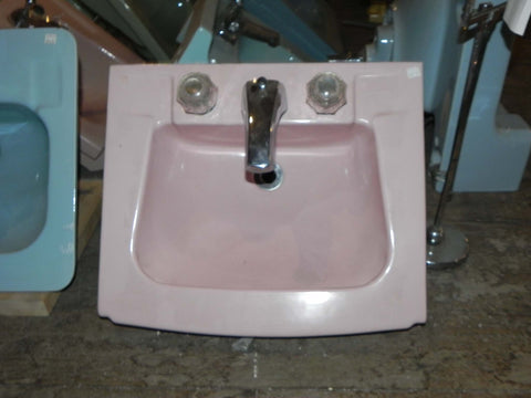 1960's Era Crane Pale Orchid Exposed Front Sink