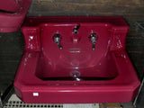 "Vintage Standard ""Tang Red"" Shelf Back Wall Sink with Integral Spigot"