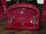 "Vintage ""Tang Red"" Standard Bow Front Wall Sink"